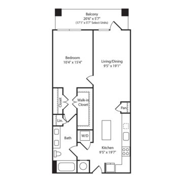 Rendering of the A1L floor plan layout