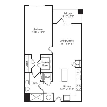 Apartment 445 floor plan