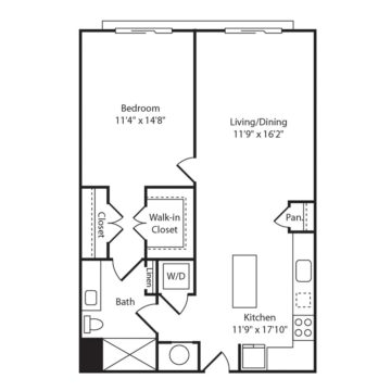 Apartment 342 floor plan