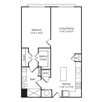 Apartment 222 floor plan