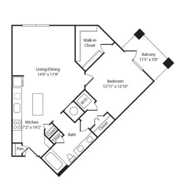 Apartment 454 floor plan