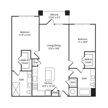 Apartment 210 floor plan