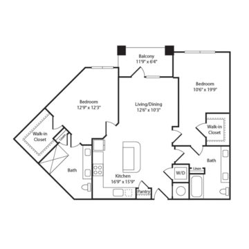 Apartment 357 floor plan
