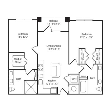 Apartment 166 floor plan