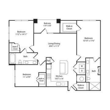 Apartment 438 floor plan