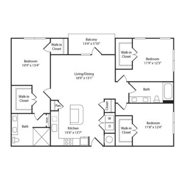Apartment 402 floor plan