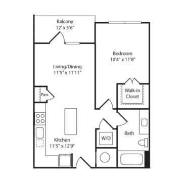 Apartment 570 floor plan